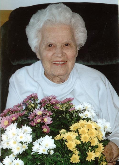 Mary Yuzyk on her 90th Birthday, November 28, 2004